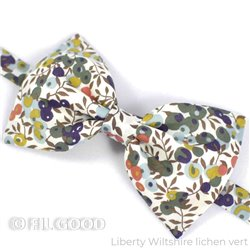 Noeud papillon large homme enfant bebe Liberty Wiltshire lichen vert FIL GOOD Made in France