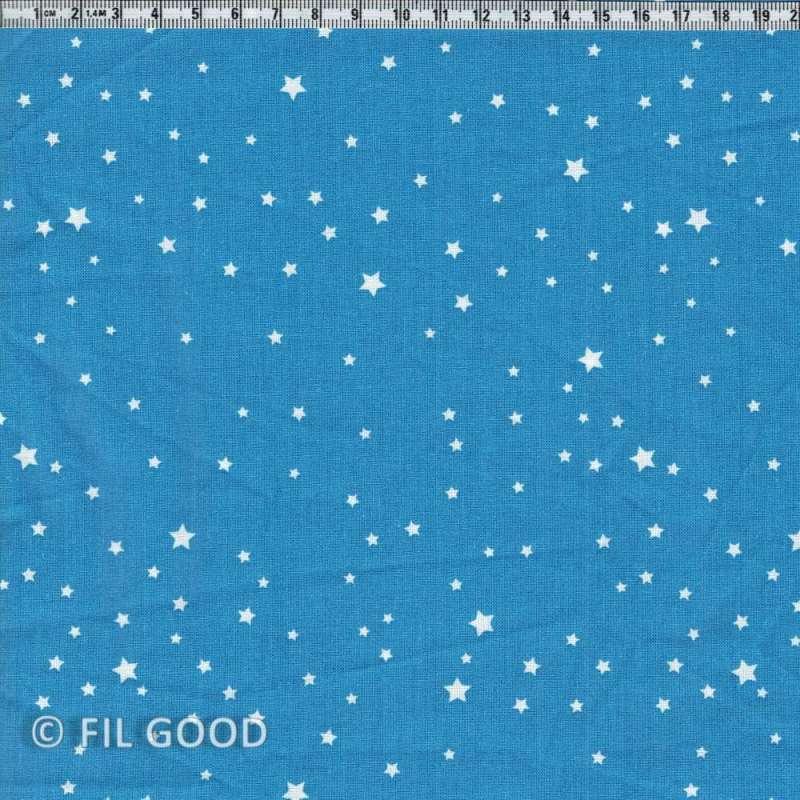 Bleu étoiles blanches