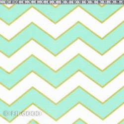 Chevrons mint blancs or