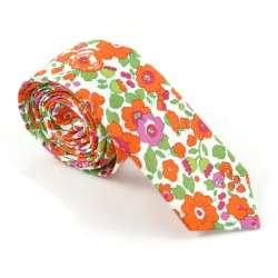 Cravate Liberty Betsy Mandarine