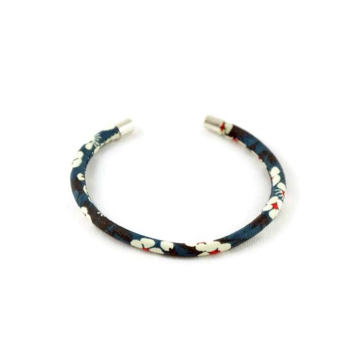 Bracelet jonc Liberty Mitsi bleu sur mesure