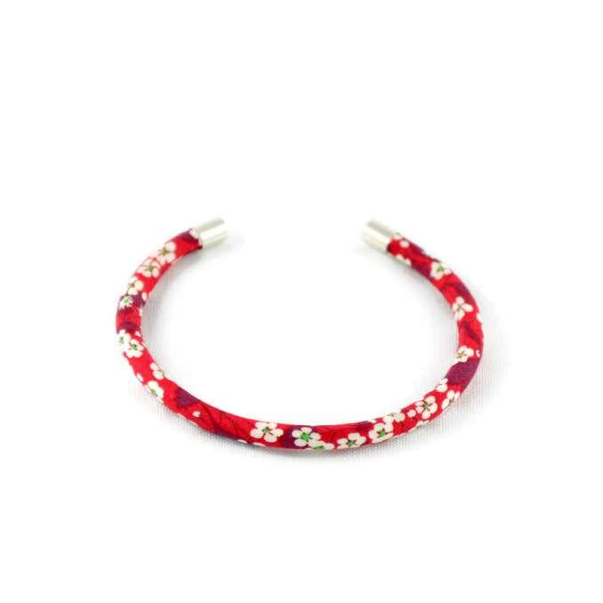 Bracelet jonc Liberty Mitsi rouge sur mesure