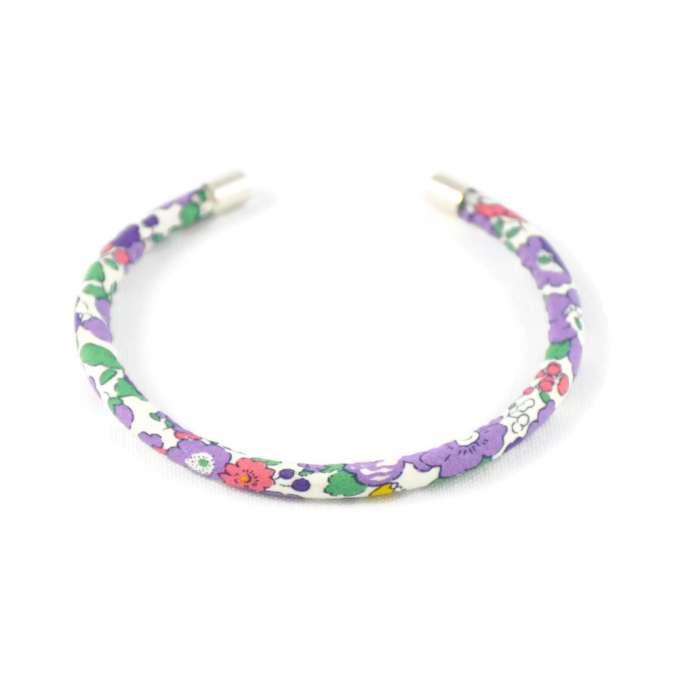 Bracelet jonc Liberty Betsy Ann violette de Toulouse sur mesure
