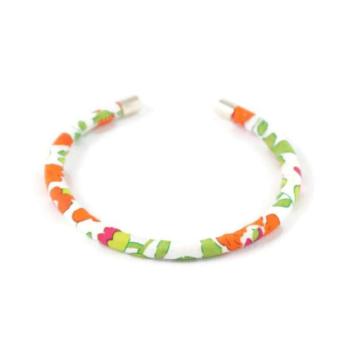 Bracelet jonc Liberty Betsy mandarine sur mesure