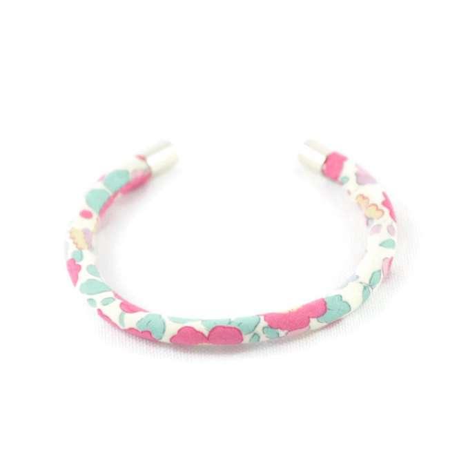 Bracelet jonc Liberty Betsy ann Japonais rose sur mesure