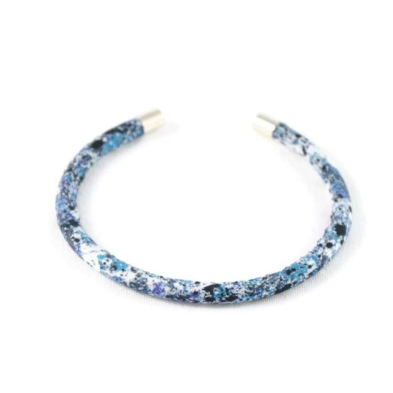 Bracelet jonc Liberty Melly bleu D sur mesure