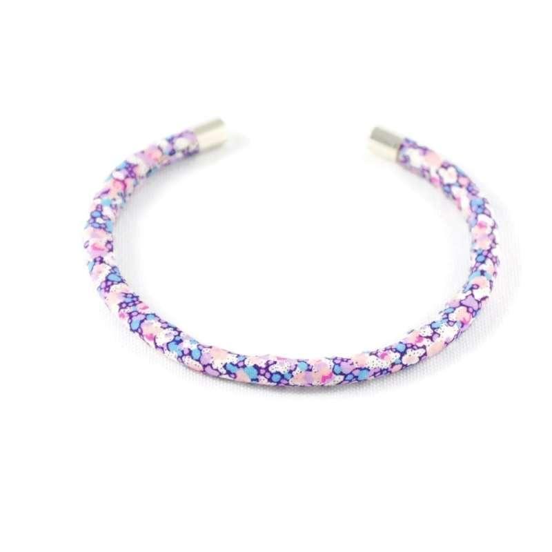 Bracelet jonc Liberty Pepper L rose et violet sur mesure