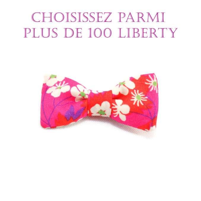 Barrette pince crocodile noeud papillon Liberty - Tissu au choix