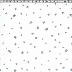 Blanc étoiles argent