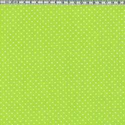 Vert pomme pois blancs